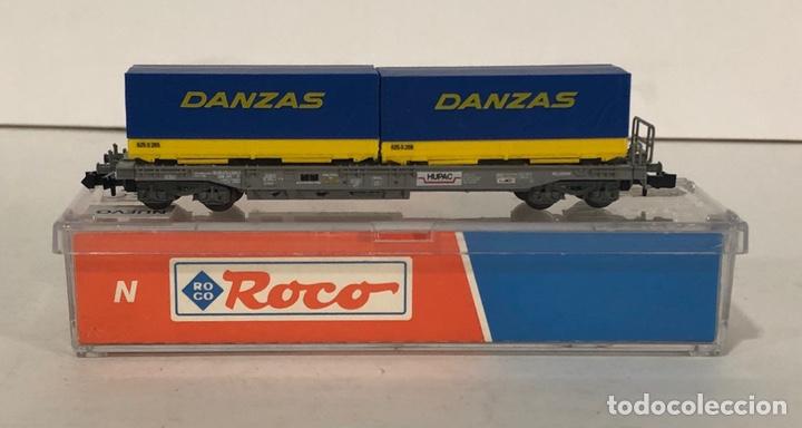Trenes Escala: ROCO VAGÓN CONTENEDORES DANZAS, REFERENCIA 25212 ESCALA N - Foto 2 - 174421690