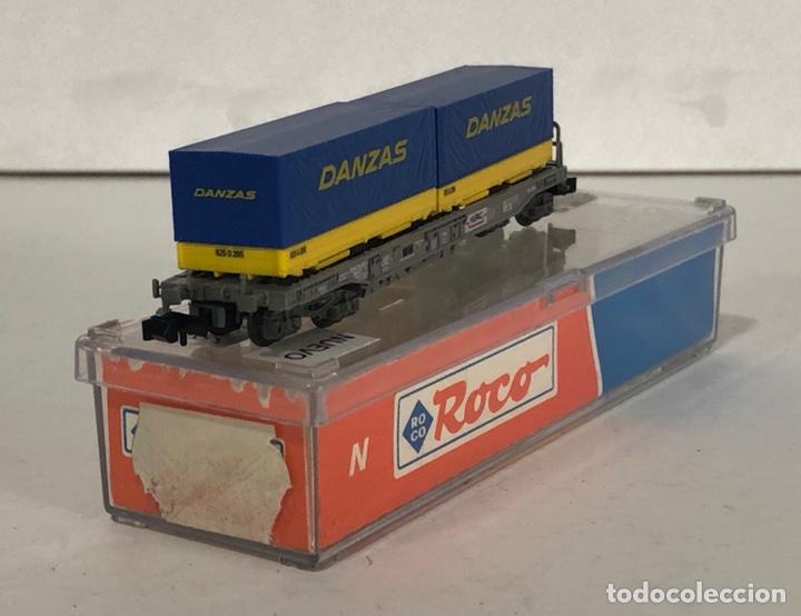 Trenes Escala: ROCO VAGÓN CONTENEDORES DANZAS, REFERENCIA 25212 ESCALA N - Foto 3 - 174421690