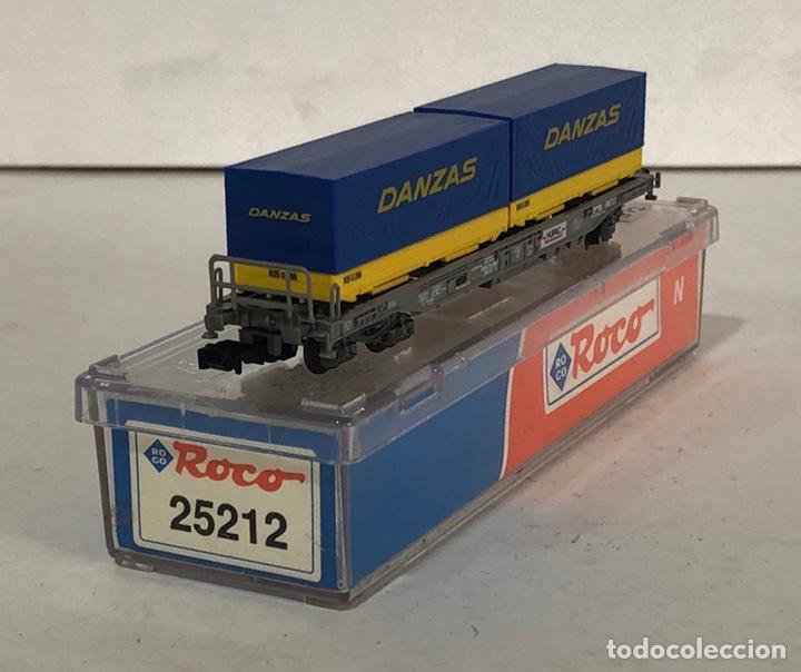 Trenes Escala: ROCO VAGÓN CONTENEDORES DANZAS, REFERENCIA 25212 ESCALA N - Foto 4 - 174421690