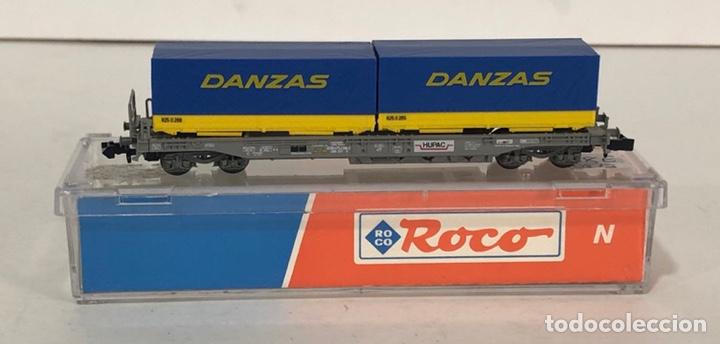 ROCO VAGÓN CONTENEDORES DANZAS, REFERENCIA 25212 ESCALA N (Juguetes - Trenes a Escala N - Roco N)