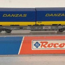 Trenes Escala: ROCO VAGÓN CONTENEDORES DANZAS, REFERENCIA 25212 ESCALA N. Lote 174421690