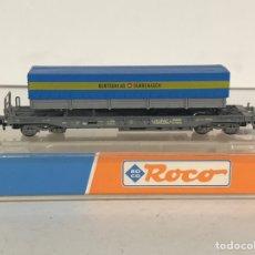 Trenes Escala: ROCO VAGÓN TRAILER DE CAMIÓN SUIZO, REFERENCIA 25148 ESCALA N. Lote 174421778