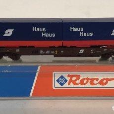 Trenes Escala: ROCO VAGÓN CONTENEDORES HAUS, REFERENCIA 25211 ESCALA N. Lote 174421824