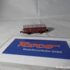 Trenes Escala: VAGÓN BORDE BAJO ESCALA N DE ROCO . Lote 191814566