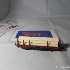 Trenes Escala: VAGÓN TELERO ESCALA N DE ROCO . Lote 191814741