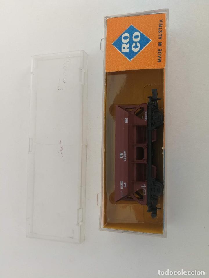 Trenes Escala: ANTIGUO VAGONETA MERCANCIAS ROCO EN SU CAJA - ESCALA N - 2 EJES - - Foto 2 - 197846923