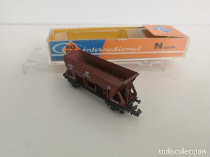Trenes Escala: ANTIGUO VAGONETA MERCANCIAS ROCO EN SU CAJA - ESCALA N - 2 EJES - - Foto 3 - 197846923