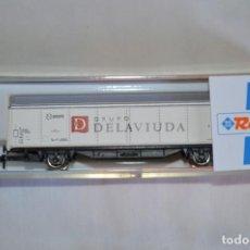 Trenes Escala: VAGÓN DE MERCANCÍAS RENFE. DELAVIUDA. ESCALA N. ROCO. ROMANJUGUETESYMAS.. Lote 201781245