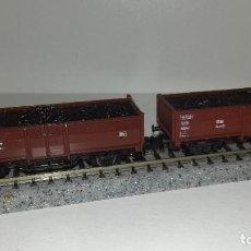 Trenes Escala: ROCO N 2 VAGONES BORDE MEDIO CON CARBÓN --- L45-132 (CON COMPRA DE 5 LOTES O MAS, ENVÍO GRATIS). Lote 205561565
