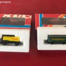 Trenes Escala: DOS VAGONES ROCO AÑOS 70-80. VER FOTOS ANEXAS.. Lote 208225073