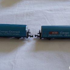 Trenes Escala: DOS VAGONES DE CARGA ROCO ESCALA N. Lote 216894993