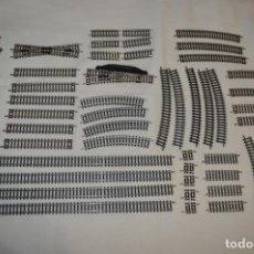 Trenes Escala: LOTE 01 - ESCALA N / ROCO - GRAN LOTE DE VÍAS, BUEN ESTADO / 50 UNIDADES / PIEZAS -- ¡MIRA FOTOS!. Lote 219605672