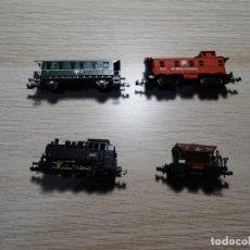 Trains Échelle: LOCOMOTORA DE VAPOR ROCO 53200 RENFE 030-0233 ESCALA N + 3 VAGONES. Lote 238857160