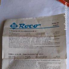 Trenes Escala: ROCO N INSTRUCCIONES DE LOCOMOTORA DE VAPOR BR 03. Lote 221460238