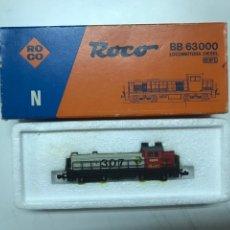 Trenes Escala: LOCOMOTORA ROCO RENFE 307 GRIS Y ROJA. Lote 222682005