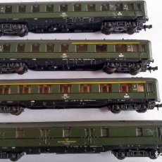 Trains Échelle: ROCO N CONJUNTO DE 4 VAGONES, 3 COCHES PASAJEROS + FURGÓN, TAL CUAL FOTOS.VÁLIDOS IBERTREN. Lote 230862835