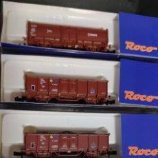 Trenes Escala: LOTE DE 4 VAGONES ROCO, 3 RENFE Y 1 DB. Lote 235807625