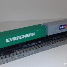 Trains Échelle: ROCO N PLATAFORMA CONTENEDORES -- L48-110 (CON COMPRA DE CINCO LOTES O MAS ENVÍO GRATIS). Lote 240252420