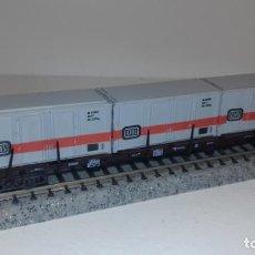 Trenes Escala: ROCO N PLATAFORMA CONTENEDORES -- L48-142 (CON COMPRA DE CINCO LOTES O MAS ENVÍO GRATIS). Lote 240892645