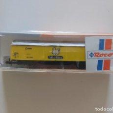 Trenes Escala: VAGÓN ESCALA N ROCO RENFE GALLINA BLANCA. REFERENCIA: 25489. Lote 244756130