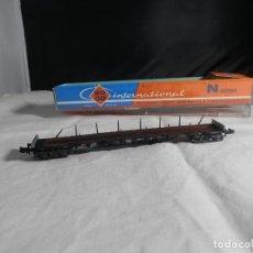 Trenes Escala: VAGÓN TELERO ESCALA N DE ROCO. Lote 245965685