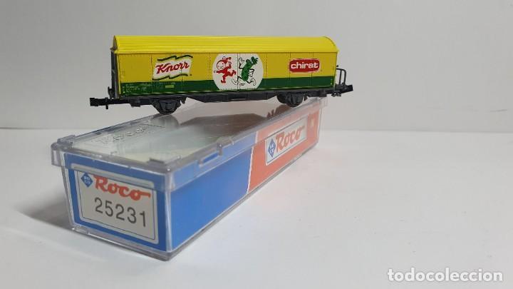 Trenes Escala: ROCO 25231, VAGÓN CERRADO KNORR - CHIRAT DE LA SBB, ESCALA N - Foto 2 - 254927000