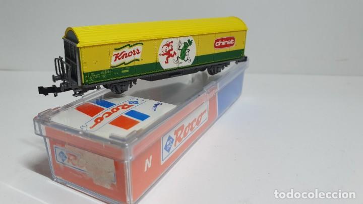 Trenes Escala: ROCO 25231, VAGÓN CERRADO KNORR - CHIRAT DE LA SBB, ESCALA N - Foto 3 - 254927000