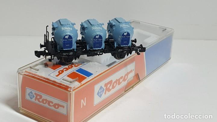 Trenes Escala: ROCO 25280, VAGÓN 3 DEPÓSITOS KNORR DE LA DB, ESCALA N - Foto 3 - 254928185
