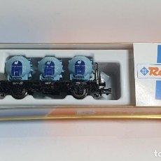 Trenes Escala: ROCO 25280, VAGÓN 3 DEPÓSITOS KNORR DE LA DB, ESCALA N. Lote 254928185