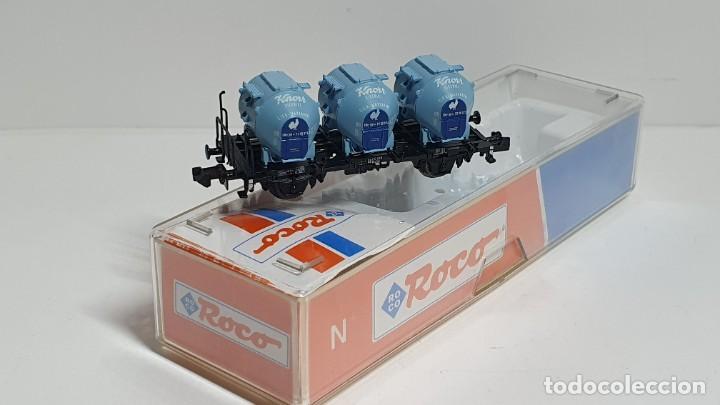 Trenes Escala: ROCO 25280, VAGÓN 3 DEPÓSITOS KNORR DE LA DB, ESCALA N (2) - Foto 3 - 254928840