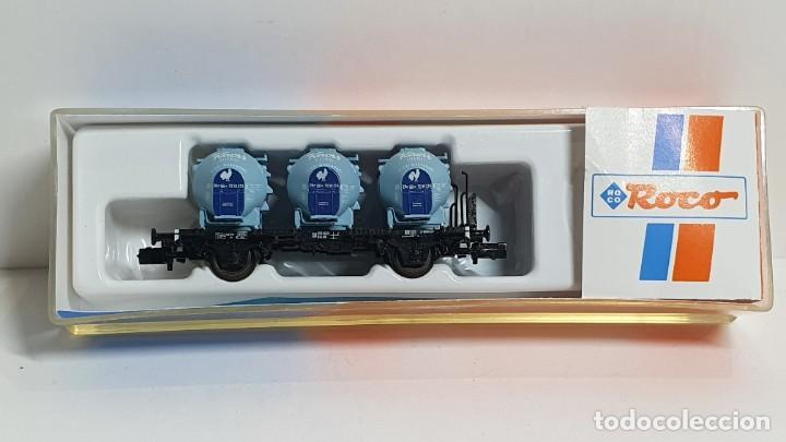 ROCO 25280, VAGÓN 3 DEPÓSITOS KNORR DE LA DB, ESCALA N (2) (Juguetes - Trenes a Escala N - Roco N)
