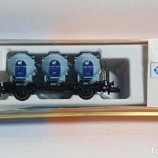 Trenes Escala: ROCO 25280, VAGÓN 3 DEPÓSITOS KNORR DE LA DB, ESCALA N (2). Lote 254928840