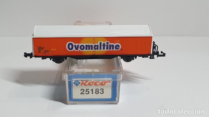 Trenes Escala: ROCO 25183, VAGÓN CERRADO OVOMALTINE DE LA SBB, ESCALA N - Foto 2 - 254929380