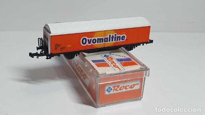 Trenes Escala: ROCO 25183, VAGÓN CERRADO OVOMALTINE DE LA SBB, ESCALA N - Foto 3 - 254929380