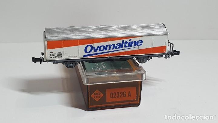Trenes Escala: ROCO 02326 A, VAGÓN CERRADO OVOMALTINE DE LA SBB, ESCALA N - Foto 2 - 254930285