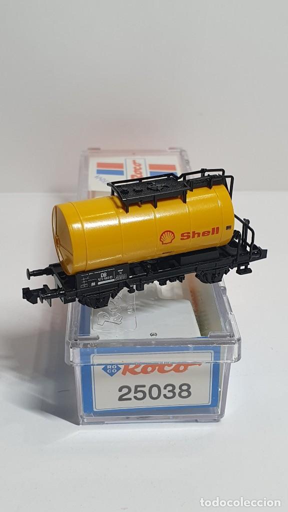 Trenes Escala: ROCO 25038, VAGÓN CISTERNA SHELL DE LA DB, ESCALA N - Foto 2 - 254930760