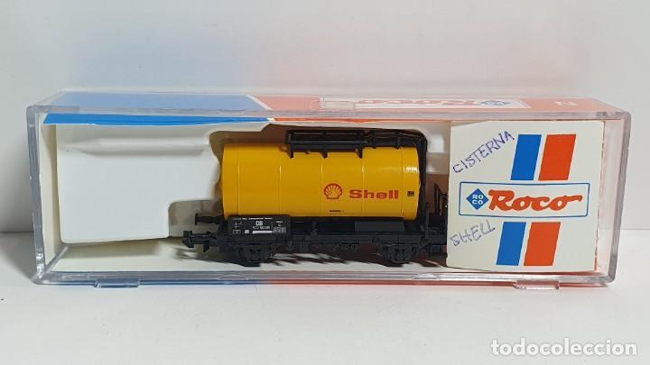 ROCO 25038, VAGÓN CISTERNA SHELL DE LA DB, ESCALA N (Juguetes - Trenes a Escala N - Roco N)
