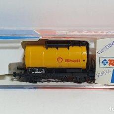 Trenes Escala: ROCO 25038, VAGÓN CISTERNA SHELL DE LA DB, ESCALA N. Lote 254930760