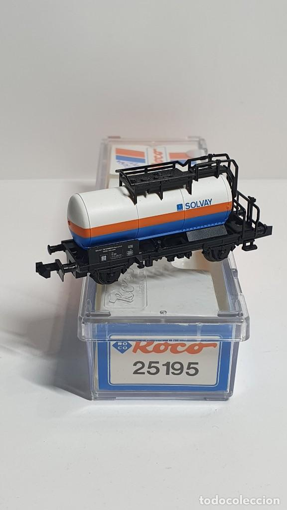 Trenes Escala: ROCO 25195, VAGÓN CISTERNA SOLVAY DE LA ÖBB, ESCALA N - Foto 2 - 254932040