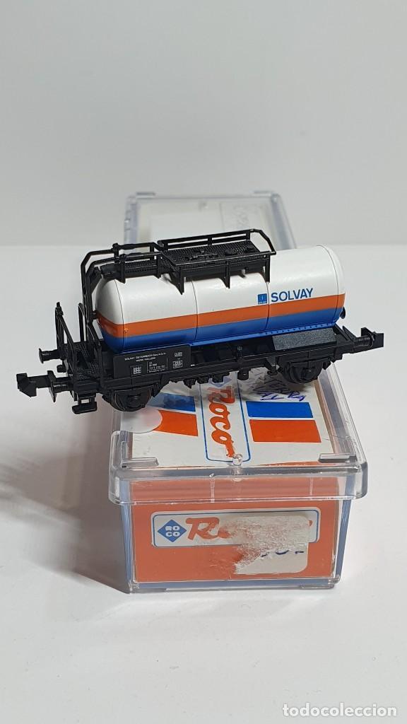 Trenes Escala: ROCO 25195, VAGÓN CISTERNA SOLVAY DE LA ÖBB, ESCALA N - Foto 3 - 254932040