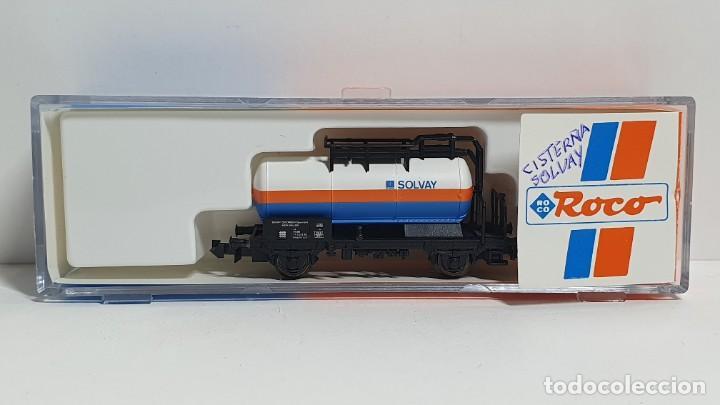 ROCO 25195, VAGÓN CISTERNA SOLVAY DE LA ÖBB, ESCALA N (Juguetes - Trenes a Escala N - Roco N)