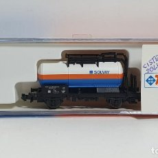 Trenes Escala: ROCO 25195, VAGÓN CISTERNA SOLVAY DE LA ÖBB, ESCALA N. Lote 254932040