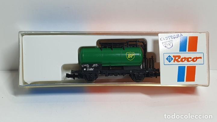ROCO 25242, VAGÓN CISTERNA BP DE LA DB, ESCALA N (Juguetes - Trenes a Escala N - Roco N)