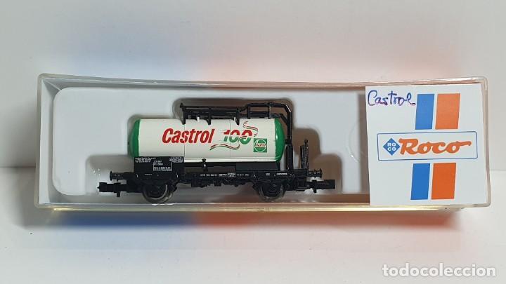 ROCO 25246, VAGÓN CISTERNA CASTROL DE LA ÖBB, ESCALA N (Juguetes - Trenes a Escala N - Roco N)