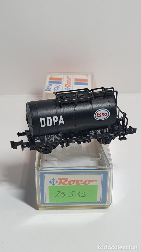 Trenes Escala: ROCO 25535, VAGÓN CISTERNA DDPA ESSO DE LA DSB, ESCALA N - Foto 2 - 254980190