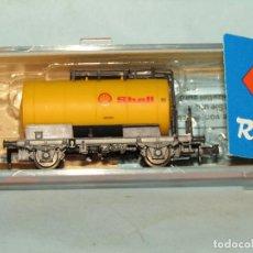 Trenes Escala: VAGÓN CISTERNA SHELL DE LA DB EN ESCALA *N* DE ROCO. Lote 257485315