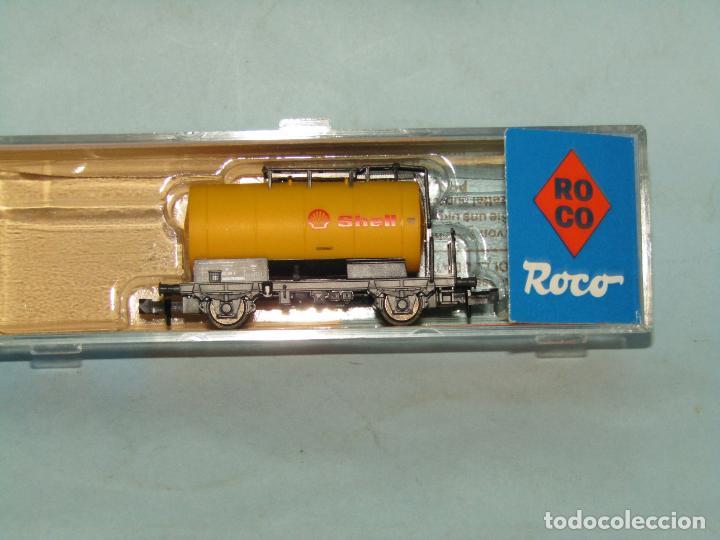 Trenes Escala: Vagón Cisterna SHELL de la DB en Escala *N* de ROCO - Foto 2 - 257485605
