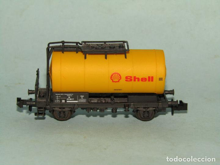 Trenes Escala: Vagón Cisterna SHELL de la DB en Escala *N* de ROCO - Foto 4 - 257485605