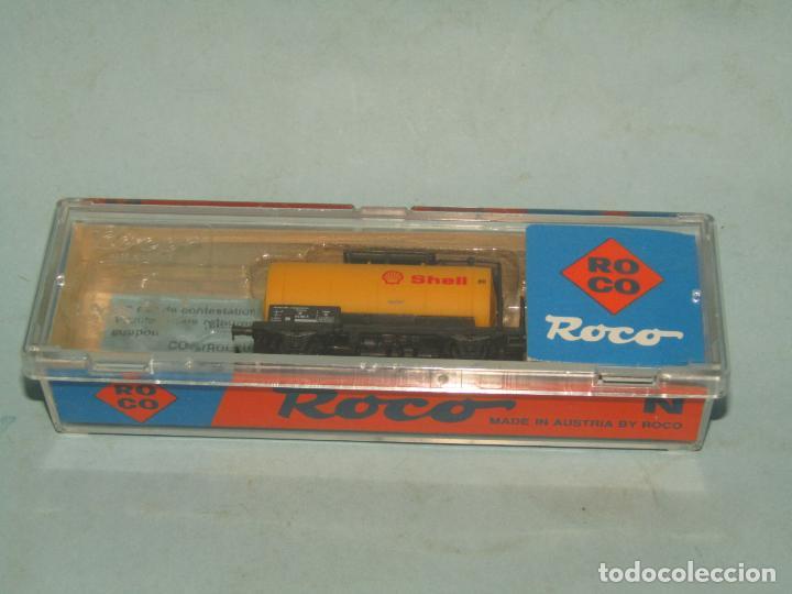 Trenes Escala: Vagón Cisterna SHELL de la DB en Escala *N* de ROCO - Foto 6 - 257485605
