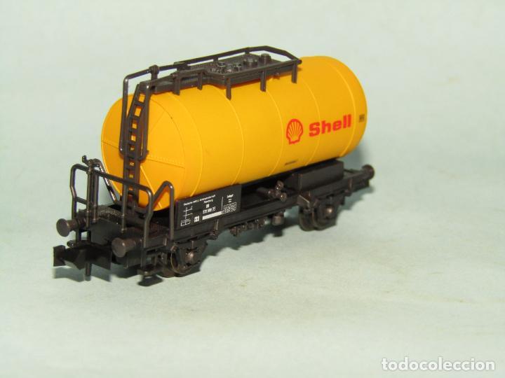 Trenes Escala: Vagón Cisterna SHELL de la DB en Escala *N* de ROCO - Foto 7 - 257485605